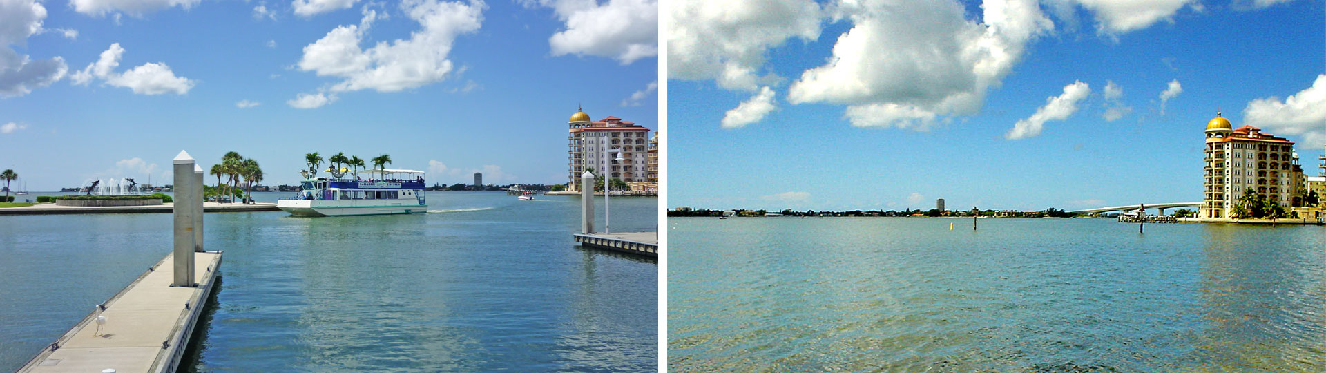 Two views from Marina Jack